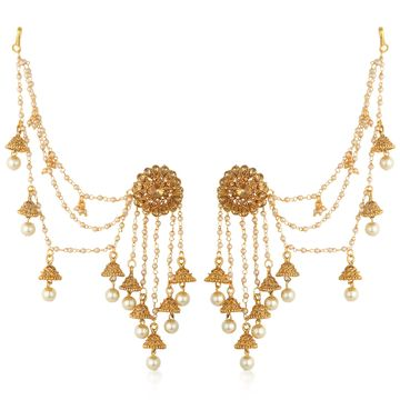 SUKKHI | Sukkhi Glorious Gold Plated Bahubali Inspired Long Chain Jhumki Earrings For Women