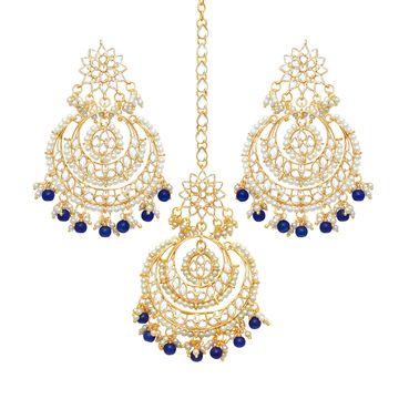 SUKKHI | Sukkhi Trendy Gold Plated Pearl Chandbali Earring for Women