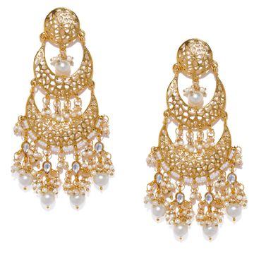 SUKKHI | Sukkhi Gold Plated Double Chand Bali Earring for Women
