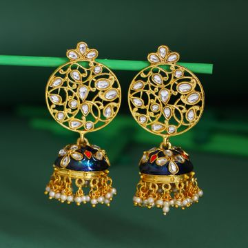 SUKKHI | Sukkhi Fabulous Pearl Gold Plated Kundan Jhumki Earring For Women