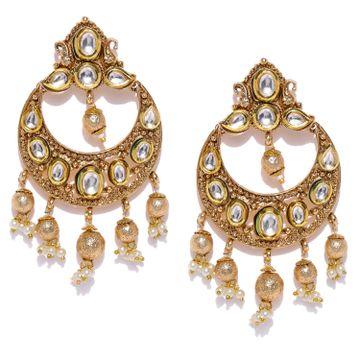 SUKKHI | Sukkhi Elegant Gold Plated Chand Bali Earring for Women