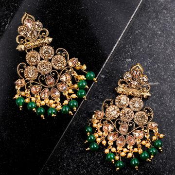 SUKKHI | Sukkhi Marquise Gold Plated Earring for Women