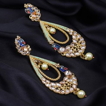 SUKKHI | Sukkhi Shimmering Mint Collection Peacock Earring for Women