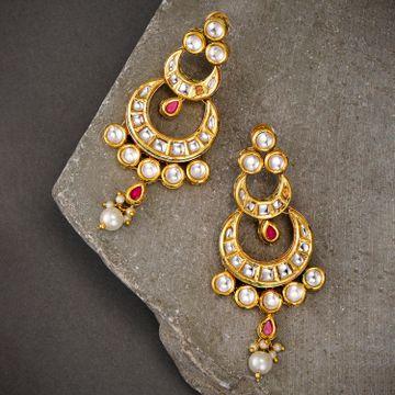 SUKKHI | Sukkhi Gold Plated Chand Bali Earring for Women