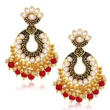 SUKKHI | Sukkhi Glimmery LCT Gold Plated Chandelier Earring For Women