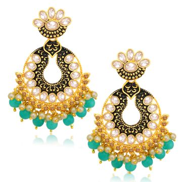 SUKKHI | Sukkhi Sparkly LCT Gold Plated Chandelier Earring For Women