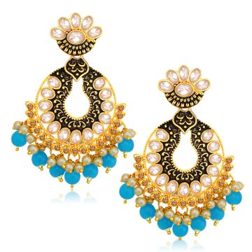 SUKKHI | Sukkhi Brilliant LCT Gold Plated Chandelier Earring For Women
