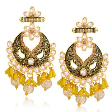 SUKKHI | Sukkhi Elegant LCT Gold Plated Floral Chandelier Earring For Women