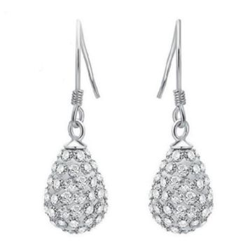 SUKKHI | Sukkhi Gleaming Crystals from Swarovski Drop Down Platinum Plated Dangle Earring Women and Girls
