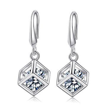 SUKKHI | Sukkhi Fashion Crystal Rhodium Plated Drop Earrings for Women
