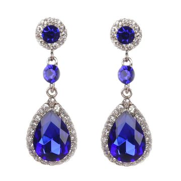SUKKHI | Sukkhi Attractive Crystals from Swarovski Rhodium Plated Drop Earring for Women