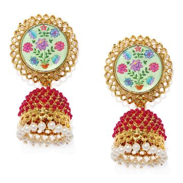 SUKKHI | Sukkhi Astonish Gold Plated Pearl Jhumki Earring for Women