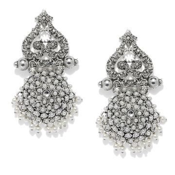 SUKKHI | Sukkhi Lavish Oxidised Pearl Dangle Earring for Women