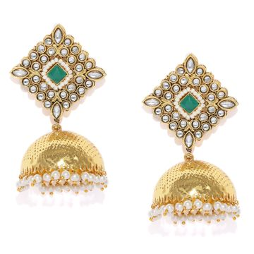 SUKKHI | Sukkhi Luxurious Kundan Gold Plated Pearl Jhumki Earring for Women