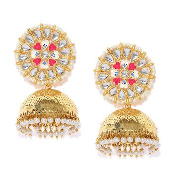SUKKHI | Sukkhi Splendid Kundan Gold Plated Pearl Jhumki Earring for Women
