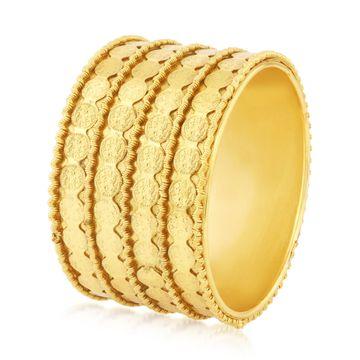 SUKKHI | Sukkhi Resplendent Temple Gold Plated Kada For Women Set Of 1
