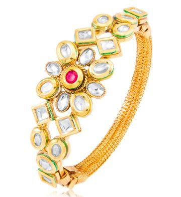 SUKKHI | Sukkhi Alluring Floral Gold Plated Kada For Women