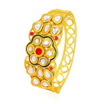 SUKKHI | Sukkhi Beguiling Gold Plated Kundan Floral Kada for Women