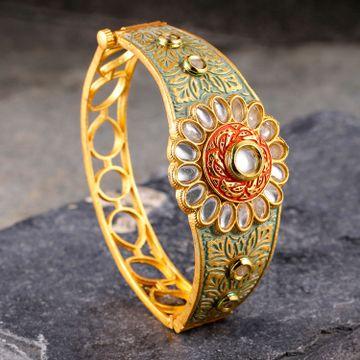 SUKKHI | Sukkhi Graceful Mint Collection Gold Plated Kada For Women