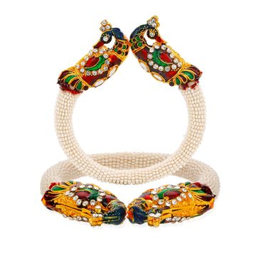 SUKKHI | Sukkhi Cluster Gold Plated Peacock Kada for Women
