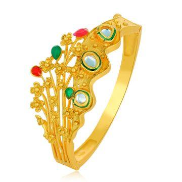 SUKKHI | Sukkhi Glitzy Gold Plated Crown Floral Kada for Women