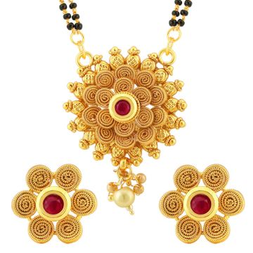 SUKKHI | Sukkhi Traditional Gold Plated Floral Mangalsutra Set For Women