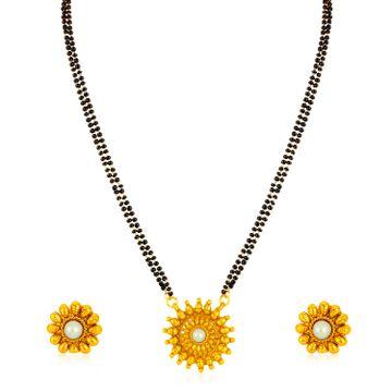 SUKKHI | Sukkhi Lavish Gold Plated Floral Mangalsutra for Women