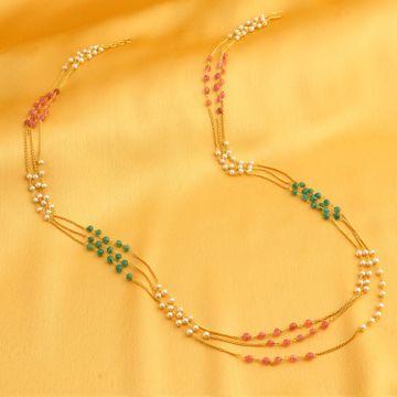 SUKKHI   Sukkhi Classy Gold Plated Multi-String Necklace Set For Women