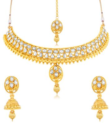 SUKKHI | Sukkhi Fabulous Gold Plated Choker Necklace Set For Women