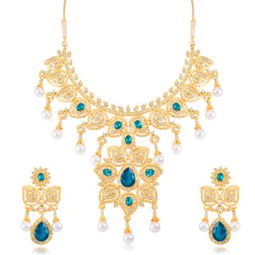 SUKKHI | Sukkhi Fabulous Gold Plated Necklace Set For Women