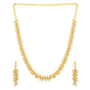 SUKKHI | Sukkhi Astonish Gold Plated Pearl Necklace Set For Women