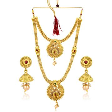 SUKKHI | Sukkhi Classic Gold Plated Long Haram Necklace Set For Women