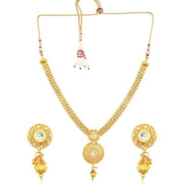 SUKKHI | Sukkhi Glistening Gold Plated Necklace Set For Women