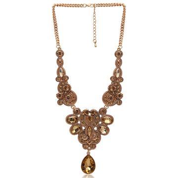 SUKKHI | Sukkhi Pleasing Gold plated filigree design collar necklace for women