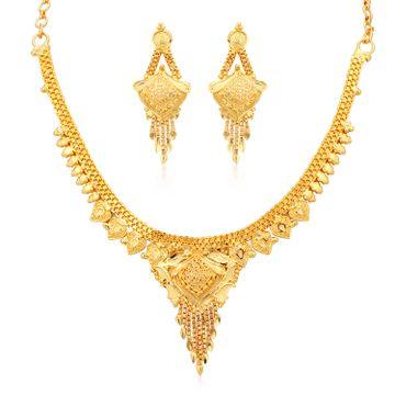 SUKKHI | Sukkhi Marvellous 24 Carat Gold plated Choker Necklace Set for Women