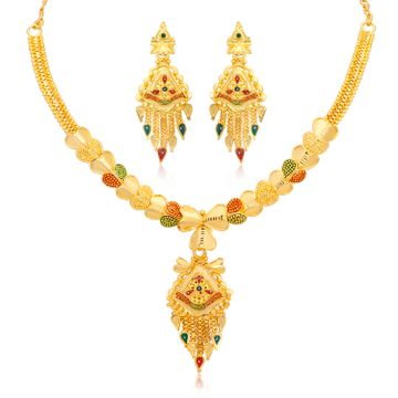 SUKKHI | Sukkhi Classy 24 Carat Gold plated Necklace Set for Women