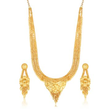 SUKKHI | Sukkhi Incredible 24 Carat Gold Plated Rani Haar Long Haram Necklace Set for Women