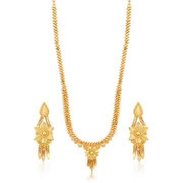 SUKKHI | Sukkhi Stylish Gold plated Long Haram Necklace Set for Women