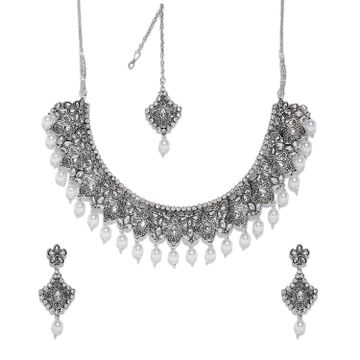 SUKKHI | Sukkhi Glistening Oxidised Plated Neckalce Set for Women