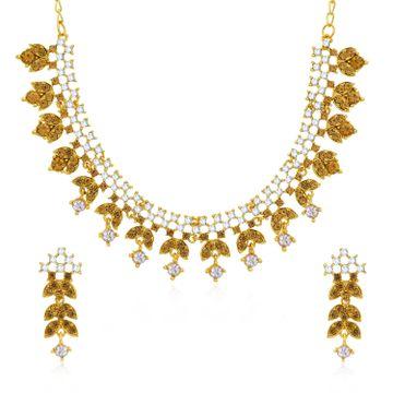 SUKKHI | Sukkhi Delightful Gold Plated CZ Stone Choker Necklace Set for Women