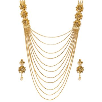 SUKKHI | Sukkhi Ritzy Gold Plated Long String Neckalce Set for Women