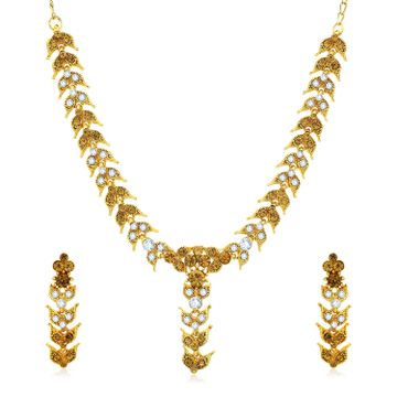 SUKKHI | Sukkhi Glitzy Gold Plated LCT and Collar Necklace Set for Women