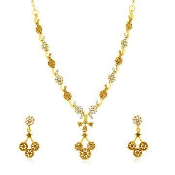 SUKKHI | Sukkhi Lavish Gold Plated LCT and Collar Necklace Set for Women