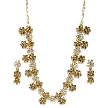 SUKKHI | Sukkhi Stunning Gold Plated Choker Neckalce Set for Women