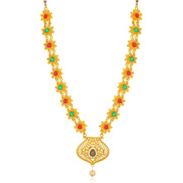 SUKKHI | Sukkhi Pretty Gold Plated Floral Collar Necklace for Women