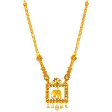 SUKKHI   Sukkhi Marquise Gold Plated Elephant Long Haram Necklace for Women