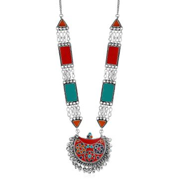 SUKKHI | Sukkhi Colourful Oxidised Plated Meenakari Necklace For Women