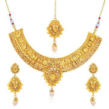 SUKKHI | Sukkhi Luxurious Gold Plated LCT Stone Collar Necklace Set for Women