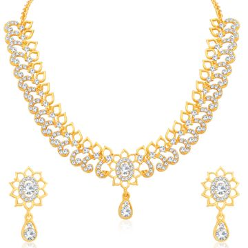 SUKKHI | Sukkhi Blossomy Gold Plated Austrian Diamond Choker Necklace Set for Women