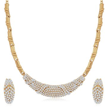 SUKKHI | Sukkhi Equisite Mehandi Gold Plated Austrian Diamond Necklace Set for Women